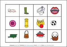 MATERIALES - Lotos fonéticos.    Colección de lotos fonéticos para diferentes fonemas, situados en distinas posiciones.    http://arasaac.org/materiales.php?id_material=175