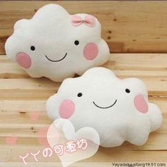 Pretty cloud pillows