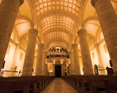 Philips LED lighting at the Cathedral of San Ildefonso, Mérida, Yucatán, Mexico | #light #travel #monument