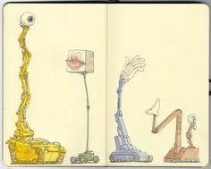 colored-robot-sketchbook-art