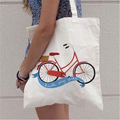 Fun choices. 10% de descuento - Kireei, cosas bellas Tote Bags Handmade, Art Bag, Jute Bags, Fabric Bags, Printed Bags, Reusable Bags, Bag Making, Canvas Tote Bags, Biodegradable Products