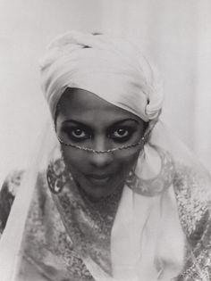"Princess Kouka of Sudan, Paul Robeson's co-star in the film ""Jericho,"" photographed by Frank Shaw in 1937."