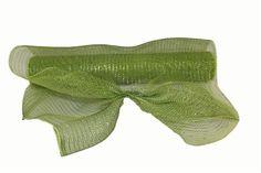 Moss Green Metallic Deco Mesh