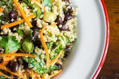 Cumin Lime Black Bean Quinoa Salad (quick + easy!) | oh she glows | Bloglovin'