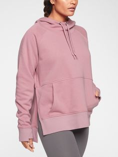 Shop Athleta's Cozy Karma Longer Hoodie: FOR: To and from yoga practice and life off the mat,FEEL: Remarkably cozy fabric has a plush interior,FAVE: Kanga pocket helps keep your hands warm,Adjustable drawstring hood,Side slits for extra mobility Boys Clothes Style, Clothes For Women, Hoodie Outfit Casual, African Dresses For Kids, Workout Tops For Women, Winter Baby Clothes, Junior Fashion, Sporty Outfits, Long Hoodie