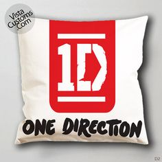 1direction logo quote Pillow Case, Chusion Cover ( 1 or 2 Side Print With Size 16, 18, 20, 26, 30, 36 inch )