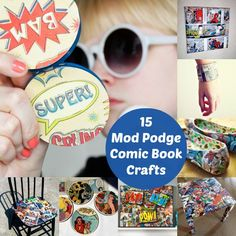15 comic book crafts using Mod Podge