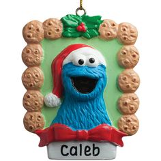 TV's Toy Box Cookie Monster Personalized Ornament (42 BRL) ❤ liked on Polyvore featuring home, home decor, holiday decorations, personalized toy box, resin ornaments, sesame street ornaments, personalized home decor and personalized ornaments