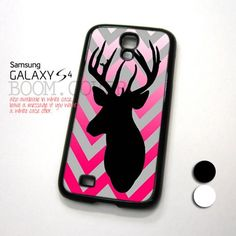 Chevron Browning Deer Purple design for Samsung Galaxy S4 Case