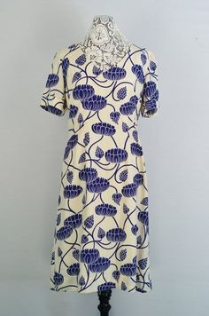 1960s Silk Floral Dress  Vintage 60s Shift by 86CharlotteStreet, $115.00