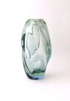 jan kotik art glass | Skrdlovice Jan Kotik 5504 -- large uranium art glass vase -- Czech art ...