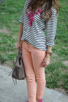 casual attire | pink, stripes, polka dots {lilly's style}