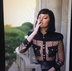 Sophia amoruso style black see through sheer shirt smoking Sophia Amoruso, Urban Outfitters, Lingerie, Office Fashion, Dark Fashion, Nasty Gal, Girl Boss, Dress To Impress, Fashion Outfits