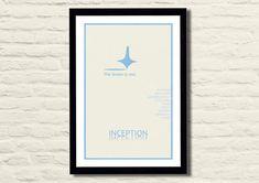 Inception Movie Poster Art Print 11 X 17 by LiltDesignCompany, $23.00