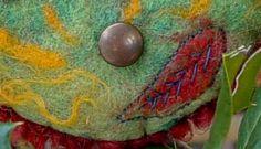 Needle and wet felted wool from Buffalo Creek fiber studio.