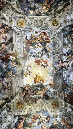 """Technology Will Save Us Gamer DIY Kit It leaves the """"Triumph of Divine Providence"""", a fresco by Pietro da Cortona at Palazzo Barberini (Rome), with [. Die Renaissance, Renaissance Kunst, Renaissance Paintings, Angel Wallpaper, Painting Wallpaper, Rennaissance Art, Arte Van Gogh, Android Art, Greek Art"""