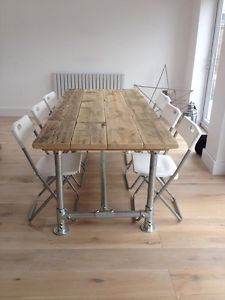 Handmade Farmhouse Industrial Rustic Scaffold Plank Board Dining Table Desk 6x3 | eBay