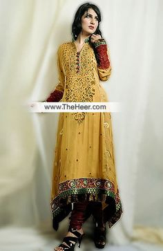 http://theheer.com/store/products.php?product=AK7582-Old-Gold-Crinkle-Chiffon-Raw-Silk-Anarkali-Pishwas