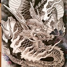 Drawing dragon process So much fun :-) #Drawing #Dragontattoo #tattoo #sketch #tattoosketch #draw #drawwork #Irezumi #Japanesedragon #龍 #sketchbook #drawproject #tat #chinesedragon #dragondraw #irezumidragon #용타투 #용