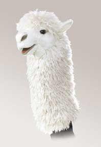 Folkmanis Alpaca Stage Puppet