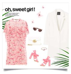 """""""Sweet Girls! 💜"""" by sophiek82 ❤ liked on Polyvore featuring MANGO, Delpozo, Christian Dior, Gucci and RED Valentino"""