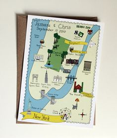 wedding map - invitation and rsvp insert