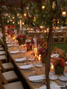 Outdoor Ranch Wedding: Use small trees to create a canopy over the tables