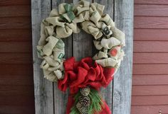 For a new take on the Christmas burlap wreath, try old coffee bean sacks. Learn more and DIY instructions at The Home Depot Garden Club.