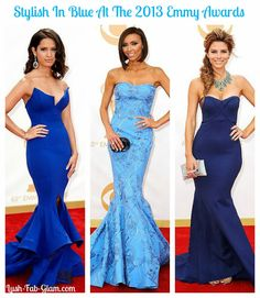 Blue is definitely fall's 'it' color! #celebrities #fashion #Emmys #2013EmmyAwards