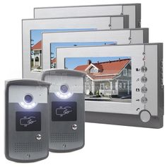 398.68$  Buy now - http://alidfo.worldwells.pw/go.php?t=32789989177 - DIYSECUR 7inch Video Door Phone LED Night Vision RFID Unlocking Home Security Intercom System 4 Monitor - 2 Camera