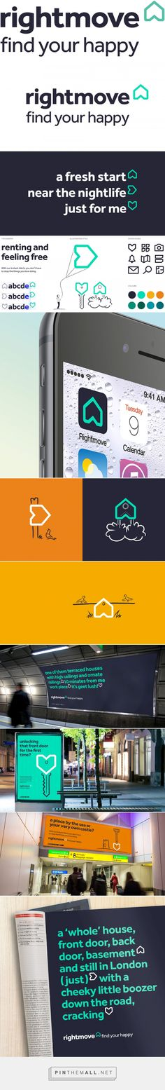 Brand New: New Logo and Identity for Rightmove by The Team - created via https://pinthemall.net