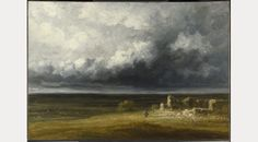 Stormy Landscape with ruins on a plain by Georges Michel