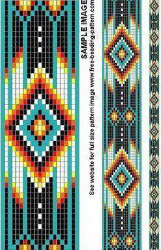 Bilderesultat for Native American Loom Beading Patterns Free Native American Regalia, Native American Patterns, Native American Design, Native American Beadwork, American Indians, Native American Fashion, Loom Bracelet Patterns, Bead Loom Patterns, Peyote Patterns