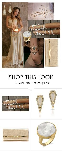 """""""Romance <3"""" by riripom ❤ liked on Polyvore featuring Amaya, Anne Sisteron, Jimmy Choo and Irene Neuwirth"""