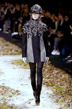 Model Eliza Hartmann for Moncler Gamme Rouge PFW AW15 3/11/15