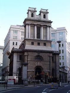 saint mary woolnoth church,London  by Hawksmoor
