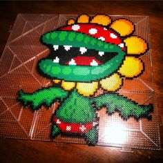 Pirahna plant - Super Mario perler beads by horiuchisanIconosquare