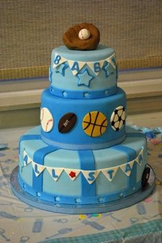 All Star Baby Shower Cake By FrostedWithEmotion on CakeCentral.com