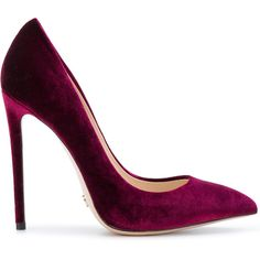 Gianni Renzi pointed pumps (€270) ❤ liked on Polyvore featuring shoes, pumps, heels, pointed shoes, pointed heel shoes, purple pumps, pointed heel pumps and pointed-toe pumps
