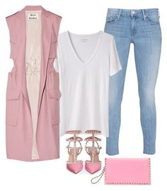 """""""'PASTEL PINK' by Melissa's Mirror"""" by melissas-mirror ❤ liked on Polyvore featuring Mother, Étoile Isabel Marant, Acne Studios and Valentino"""