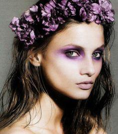 anna selezneva #purple #makeup #eyeshadow #wreath