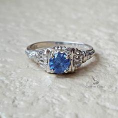 Vintage Antique Art Deco Sapphire Diamond by CypressCreekVintage