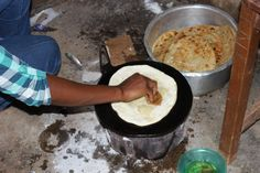 traditional ugandan FOOD! Chapati ;)
