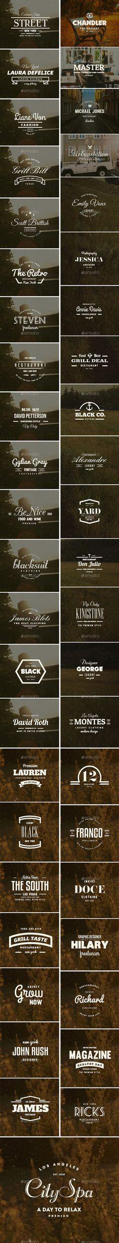 45 Vintage Labels & Badges Logos Bundle #design Download: http://graphicriver.net/item/45-vintage-labels-badges-logos-bundle/11921321?ref=ksioks