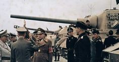 Adolf Hitler inspects a Panzer Division WW2
