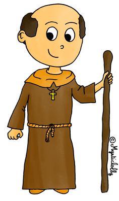 L'Histoire en dessins - Le moyen âge - Le moine