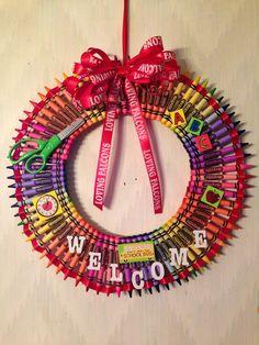 Crayola Wreath