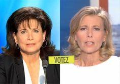 Sondage : préférez-vous le brushing gonflé à la Anne Sinclair ou le brushing plat à la Claire Chazal ?