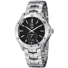 @Overstock - Ever since TAG Heuer has been established in 1860, it has been a leading producer of prestigious sports watches and chronographs. This stainless steel timepiece features a black linear dial, silvertone markers, date window and a small seconds subdial.http://www.overstock.com/Jewelry-Watches/Tag-Heuer-Mens-Link-Black-Dial-Stainless-Steel-Automatic-Watch/6720241/product.html?CID=214117 $2,131.99