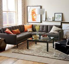 Canapeaua gri - o solutie universala pentru orice decor- Inspiratie in amenajarea casei - www.povesteacasei.ro